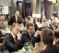 Sigmar Gabriel neben Bert Rürup, Abendempfang der Asia Business Insights, 28.02.2018 in Düsseldorf