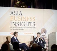 Sven Afhüppe und Sigmar Gabriel, Abendempfang der Asia Business Insights, 28.02.2018 in Düsseldorf