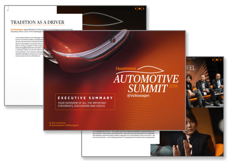 Automotive Summit 2018 – Executive Summary : Your overview