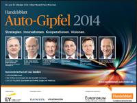 Handelsblatt Auto-Gipfel 2014 Programm Broschüre als PDF