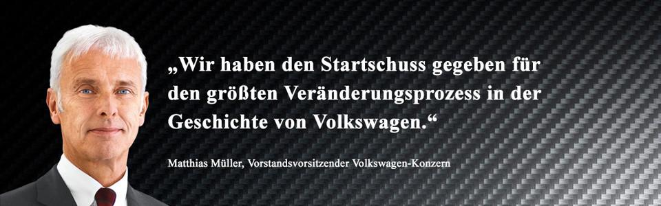 Matthias Müller, Vorstandsvorsitzender Volkswagen-Konzern