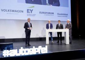 Dieter Zetsche , Harald Krüger , Mathias Müller, Gabor Steingart , Handelsblatt Auto-Gipfel