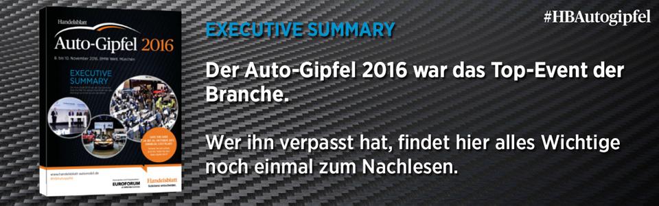 Executive Summary – Alle Highlights des Auto-Gipfel 2016 zum Nachlesen