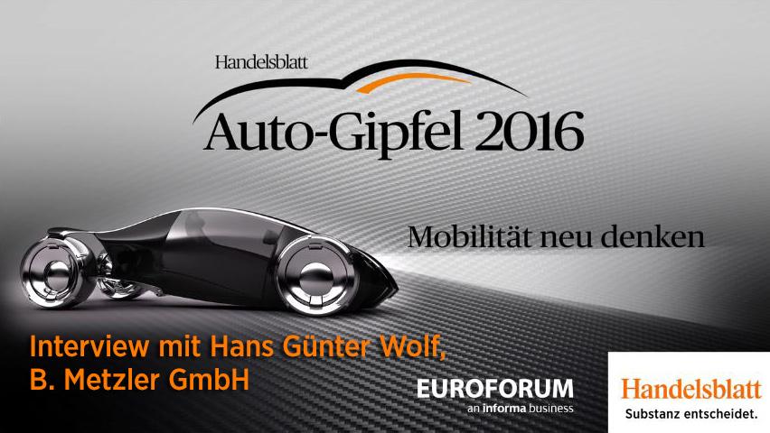 {Video} Interview mit Hans Günter Wolf (B Metzler GmbH)