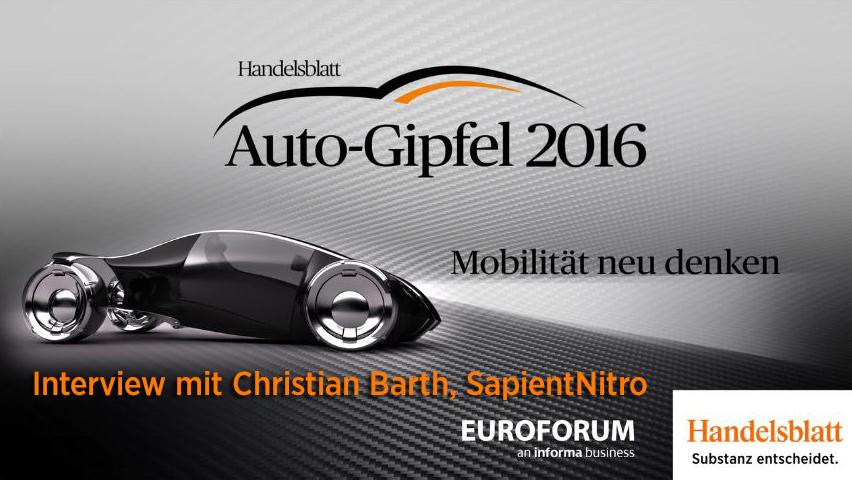 {Video} Interview mit Christian Barth (SapientNitro)