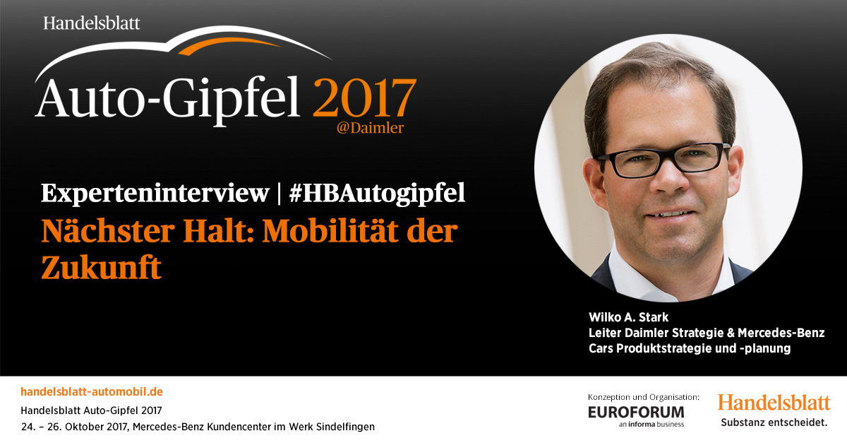 Nächster Halt: Mobilität der Zukunft – Interview mit Wilko A. Stark [Daimler AG]