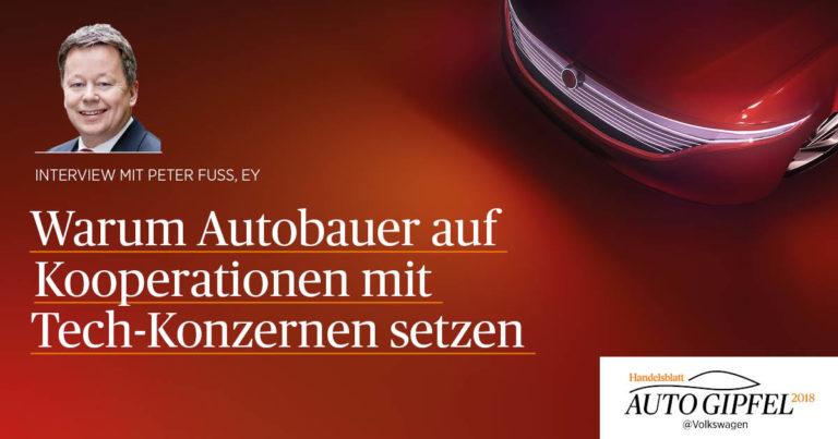 Warum Autobauer auf Kooperationen mit Tech-Konzernen setzen – Interview mit Peter Fuß (EY)