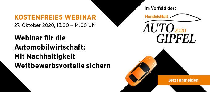 Webinar für die Automobilwirtschaft: Mit Nachhaltigkeit Wettbewerbsvorteile sichern