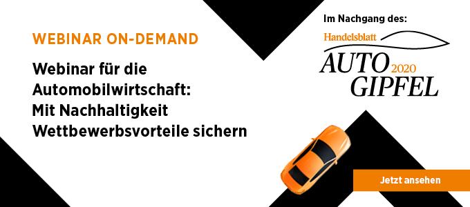 Webinar On-Demand für die Automobilwirtschaft: Mit Nachhaltigkeit Wettbewerbsvorteile sichern