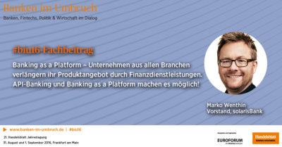 Fachbeitrag: Banking as a Platform