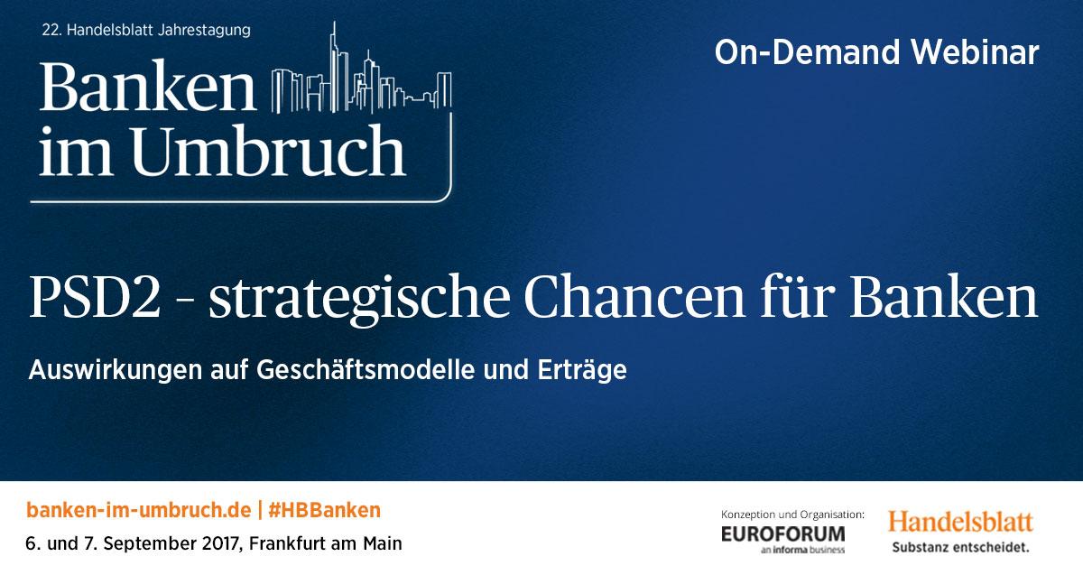 Webinar on Demand – PSD2: strategische Chanchen für banken