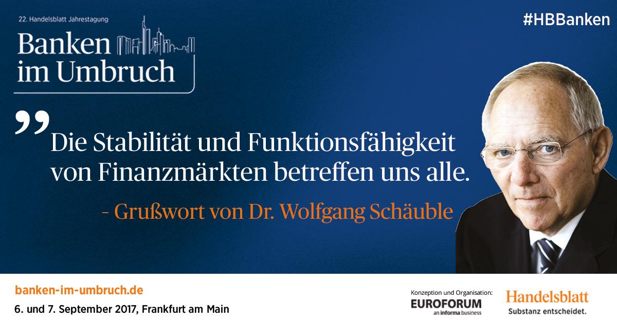 Grußwort von Dr. Wolfgang Schäuble