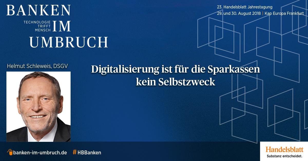 Interview mit Helmut Schleweis, Präsident des Deutschen Sparkassen- und Giroverbandes (DSGV).
