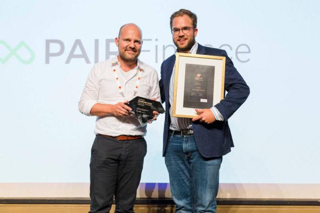 Diamond-Star-Gewinner Stephan Stricker und Robert Witte von Pair Finance.
