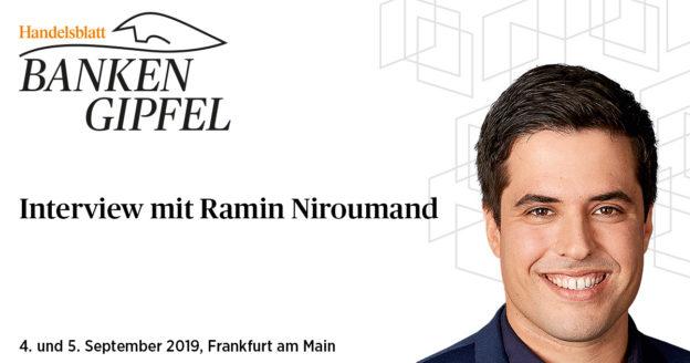 Interview mit Ramin Niroumand (FinLeap) beim Banken-Gipfel 2018