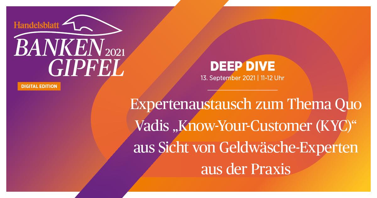 """Expertenaustausch zum Thema Quo Vadis """"Know-Your-Customer (KYC)"""" aus Sicht von Geldwäsche-Experten aus der Praxis"""