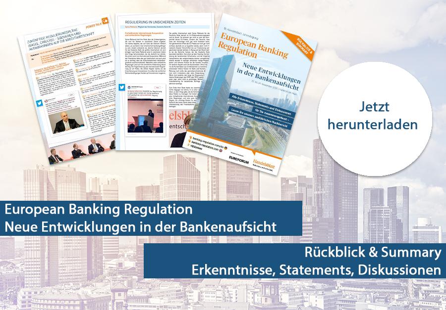 Rückblick & Summary European Banking Regulation