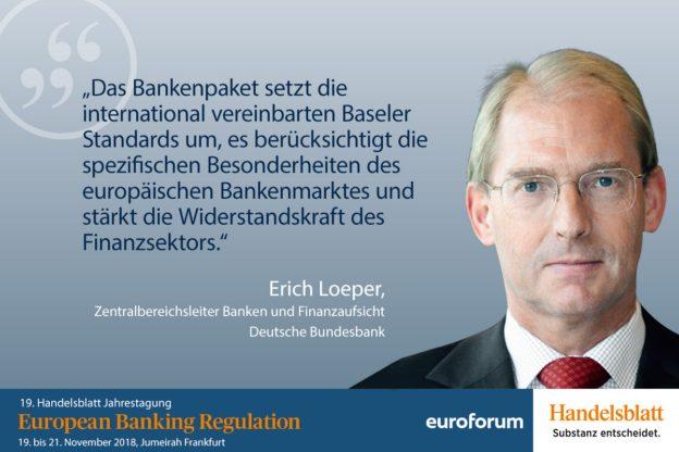 Erich Loeper, Deutsche Bundesbank, Referent Bankenaufsicht