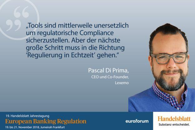 Pascal Di Prima, Lexemo, Referent Bankenaufsicht
