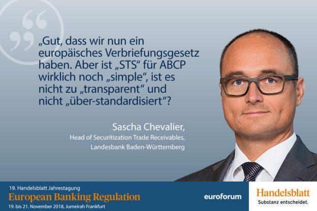 Sascha Chevalier, Landesbank Baden-Württemberg, Referent Bankenaufsicht