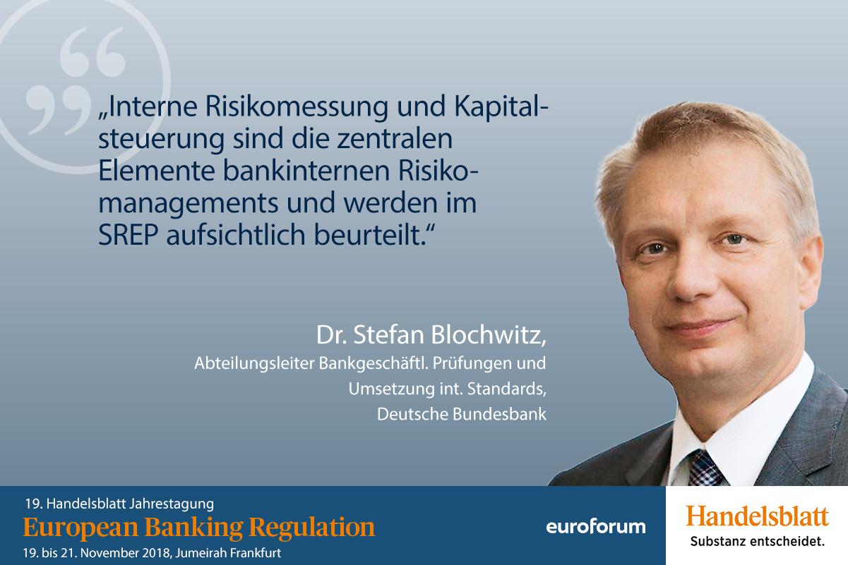Dr. Stefan Blochwitz, Deutsche Bundesbank, Referent Bankenaufsicht