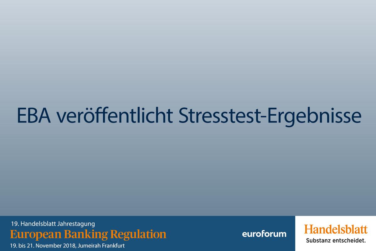 EBA Stresstest-Ergebnisse