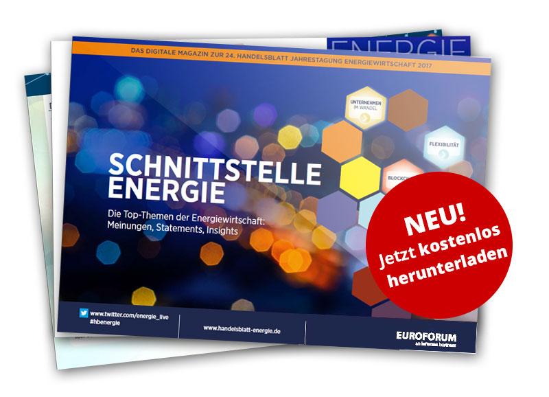Digitales Magazin zur 24. Handelsblatt Jahrestagung Energiewirtschaft