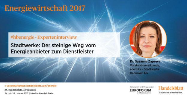 Dr. Susanna Zapreva, Vorstandsvorsitzende, enercity – Stadtwerke Hannover AG