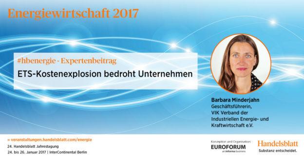 ETS-Kostenexplosion bedroht Unternehmen | #hbenergie-Expertenbeitrag von Barbara Minderjahn (VIK)