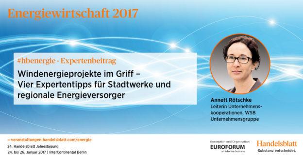 Windenergieprojekte im Griff | #hbenergie-Expertenbeitrag von Annett Rötschke (WSB Unternehmensgruppe)