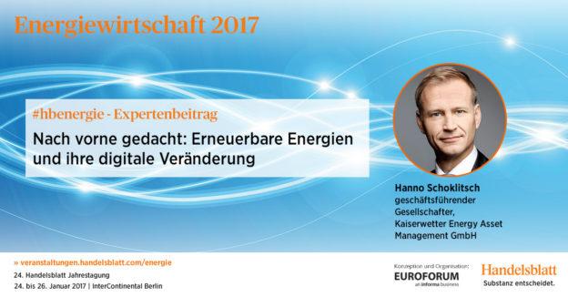Erneuerbare Energien und ihre digitale Veränderung | #hbenergie-Expertenbeitrag von Hanno Schoklitsch (Kaiserwetter)