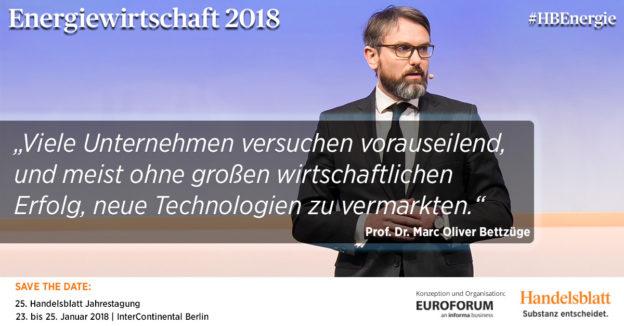 Prof. Dr. Marc Oliver Bettzüge, Direktor, ewi Energiewirtschaftliches Institut an der Universität zu Köln