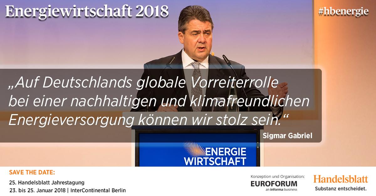Energiewende bringt Modernisierungsschub | #hbenergie-Expertenbeitrag von Sigmar Gabriel