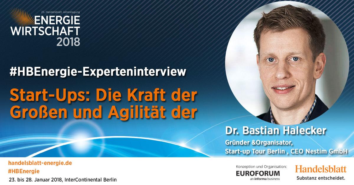 Start-Ups: Die Kraft der Großen und Agilität der Kleinen | #HBEnergie-Experteninterview mit Dr. Bastian Halecker