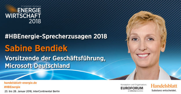 Aktuelle Sprecherzusagen 2018: Sabine Bendiek, Vorsitzende der Geschäftsführung, Microsoft Deutschland