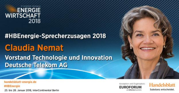 Aktuelle Sprecherzusagen 2018: Claudia Nemat, Vorstand Technologie & Innovation, Deutsche Telekom AG