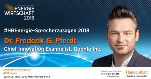 Aktuelle Sprecherzusagen 2018: Dr. Frederik G. Pferdt, Chief Innovation Evangelist, Google Inc.