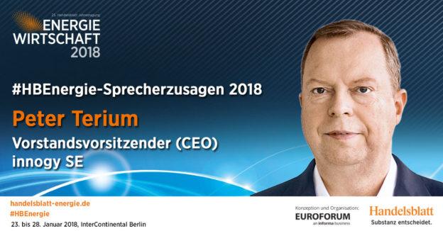 Aktuelle Sprecherzusagen 2018: Peter Terium, Vorstandsvorsitzender (CEO), innogy SE