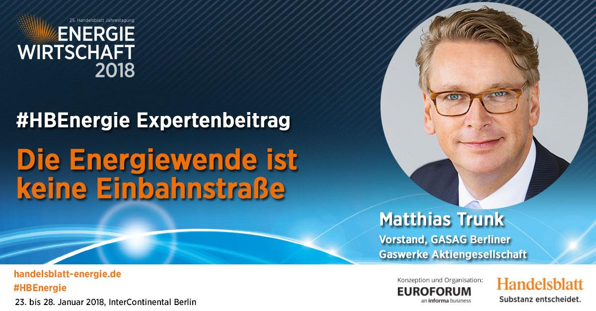 Die Energiewende ist keine Einbahnstraße | #HBEnergie-Expertenbeitrag von Matthias Trunk