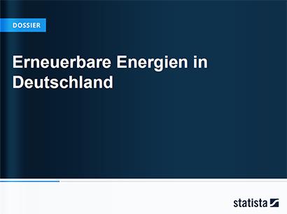 Erneuerbare Energien in Deutschland | Statista Dossier