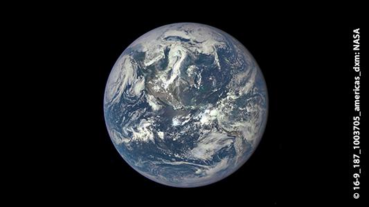 Satellitenbildaufnahme der Erde