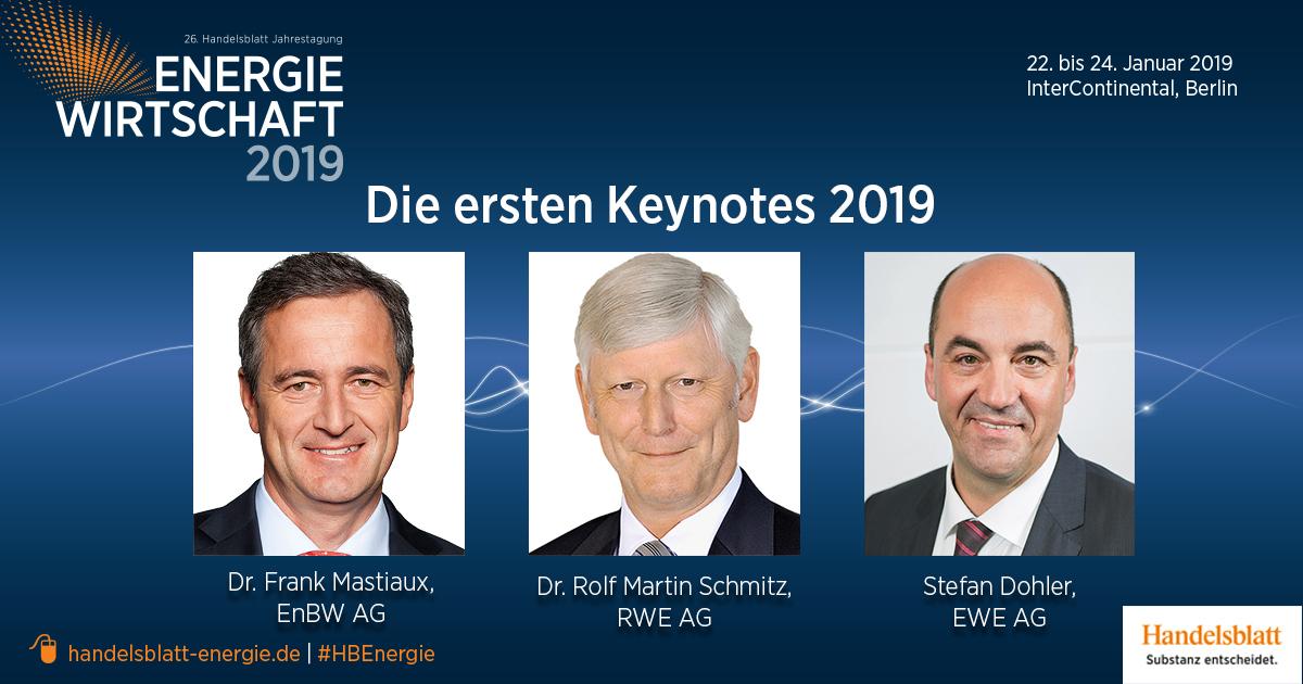 Die ersten Keynotes der Jahrestagung Energiewirtschaft 2019