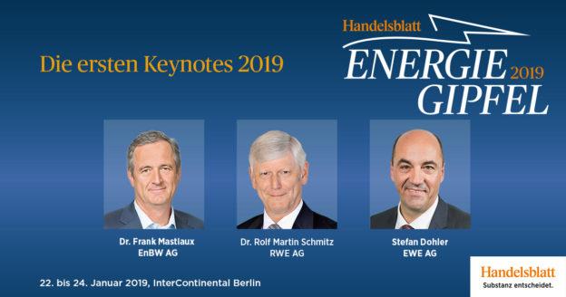 Mastiaux, Schmitz, Dohler: Die ersten Keynotes der Jahrestagung Energiewirtschaft 2019