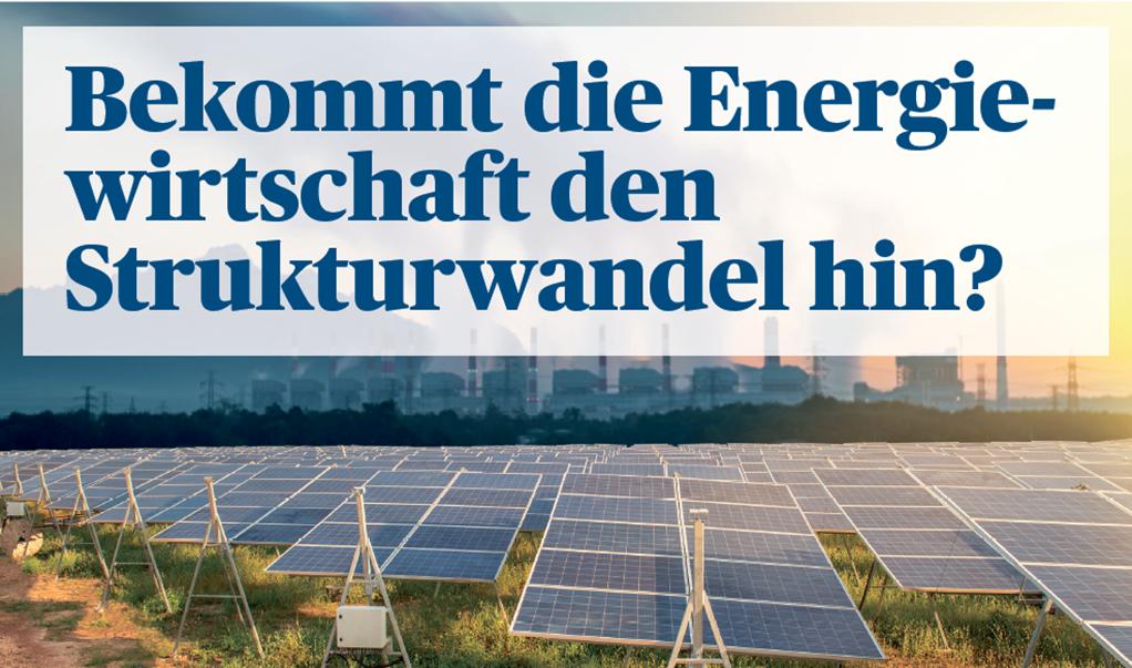 Bekommt die Energiewirtschaft den Struktur wandel hin?
