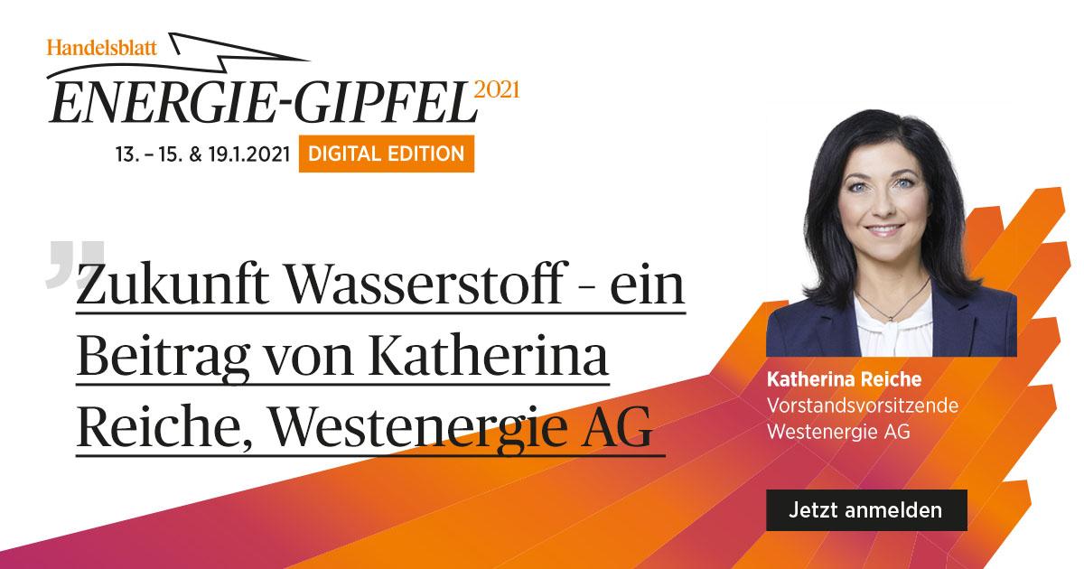 Zukunft Wasserstoff – ein Beitrag von Katherina Reiche, Vorstandsvorsitzende, Westenergie AG