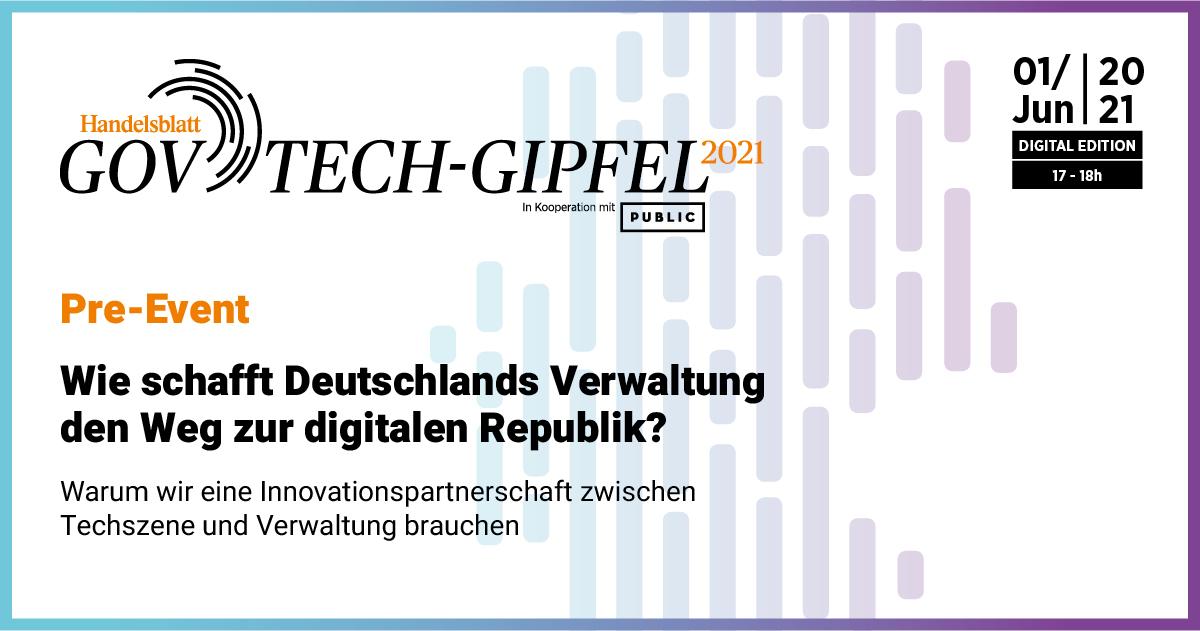 GovTech-Gipfel Pre-Event