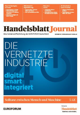 Packshot Handelsblatt Journal Die vernetzte Industrie