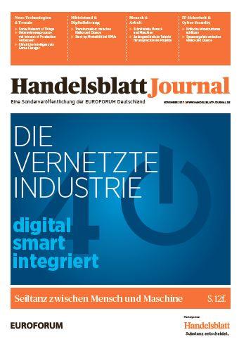 Packshot Handelsblatt Journal Die vernetzte Industrie