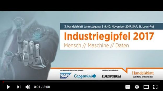 Start-Screen Video-Rückblick Industrie-Gipfel 2017