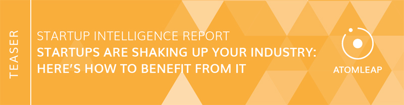 "Startup Intelligence Report ""Startups are shaking up your industry: here's how to benefit from it"" von AtomLeap"